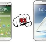 Samsung Galaxy S4 vs Samsung Galaxy Note II Specs, Features Comparison