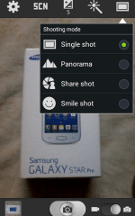 Samsung Galaxy Star Pro Camera features