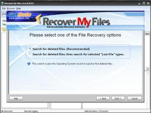 Search for deleted file