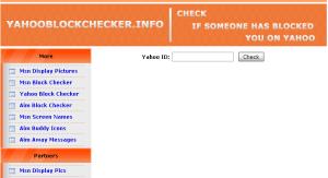 yahoo block checker