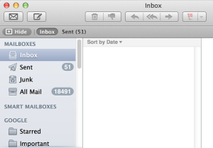Show Hide Labels Mail App