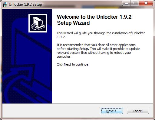 Unlocker Software Install
