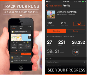 Strava Run -map and stats