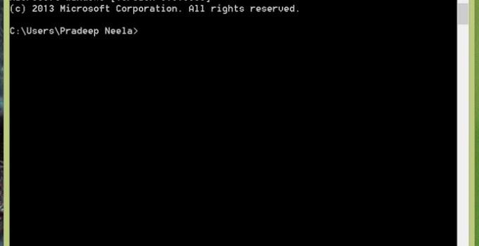 Command Prompt on Windows PC