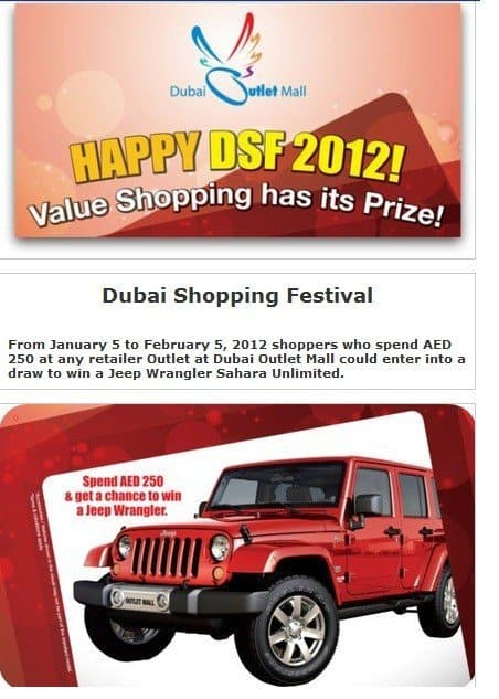 Dubai Outlet Mall #DSF2012  Dubai Shopping Festival offers, deals, discounts, raffles ,prizes and more...