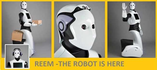 REEM Coming soon : life size Robots to replace human workers.