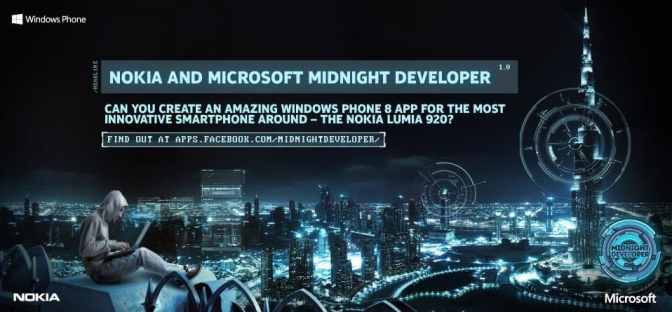 The Midnight Developer Challenge UAE.jpg Nokia and Microsoft Join Forces to Empower Local Talent with  The Midnight Developer Challenge