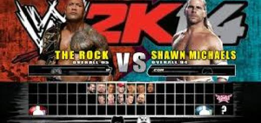 WWE 2k14 which is the latest title and was available only for Some High End Gaming Consoles and Not for Android, iOS or Windows
