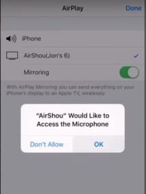 Allow access to Microphone in iOS Devices