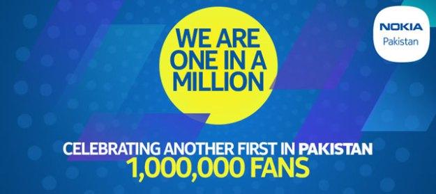 Nokia Facebook fan page 1 million likes