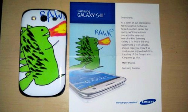 Personalized Galaxy S3 Phone? Well, Samsung did Surprise a Fan by Sending it!