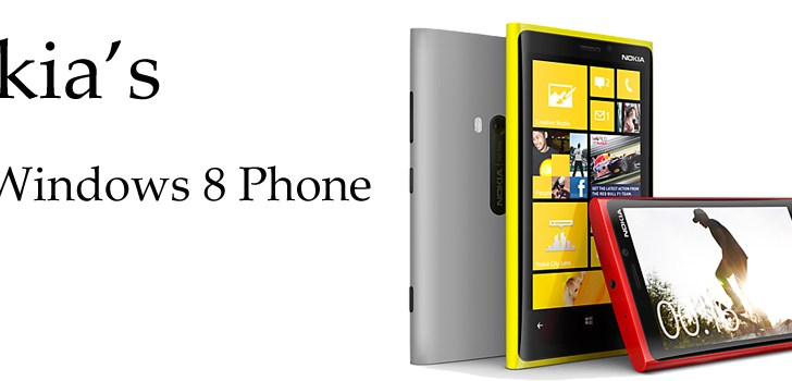 Nokia unveils Lumia 920, its first Windows 8 SmartPhone