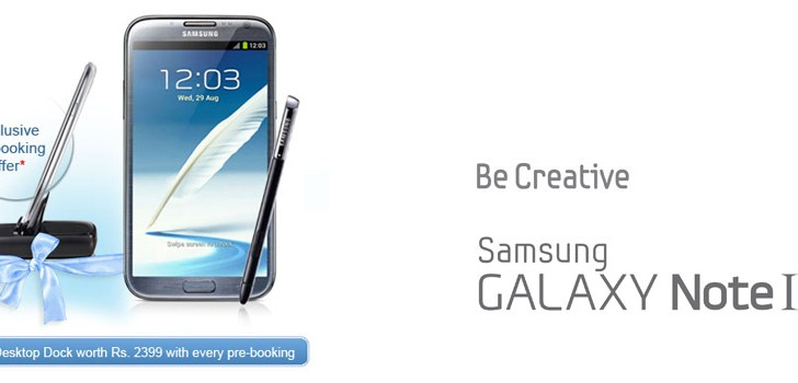 Samsung Galaxy Note II Pre-booking Opens in India