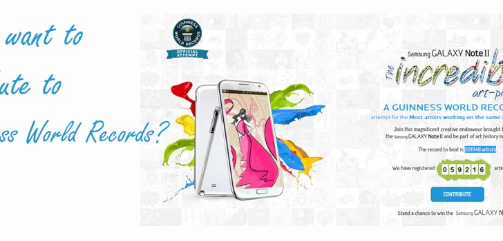 Participate in Samsung Galaxy Note 2 – The Incredible Piece World Record Attempt