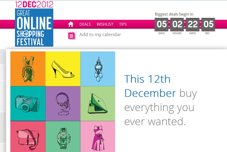 Google offers India's Own Cyber Wednesday Shopping on 12/12/12