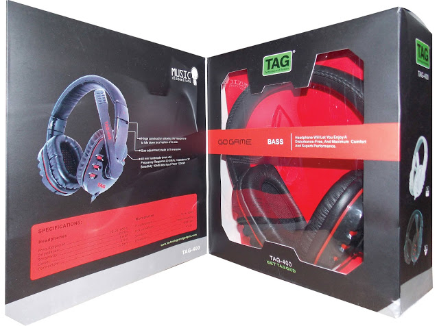 TAG 400 headset is aimed at both gamers and music buffs