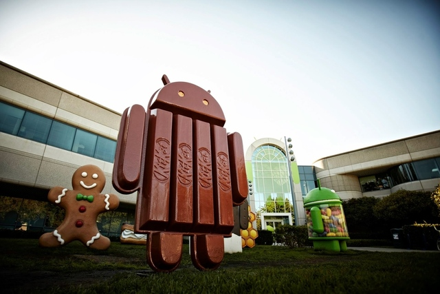 Wonder what the next Android version be called? It's Android Kitkat!