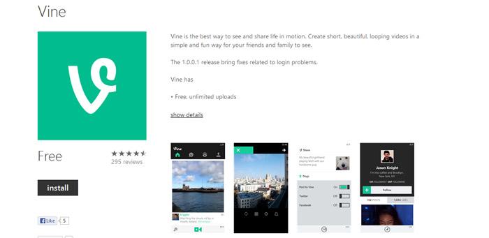Twitter's Vine app goes official for Windows Phone