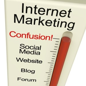 Internet Marketing confusion thermometer.