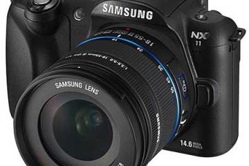 Samsung NX11 digital camera, front view