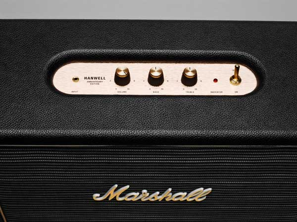 Marshall Hanwell speaker, controls