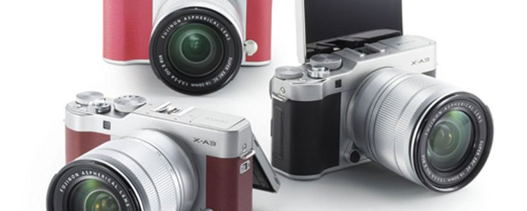Fujifilm X-A3 camera colour range