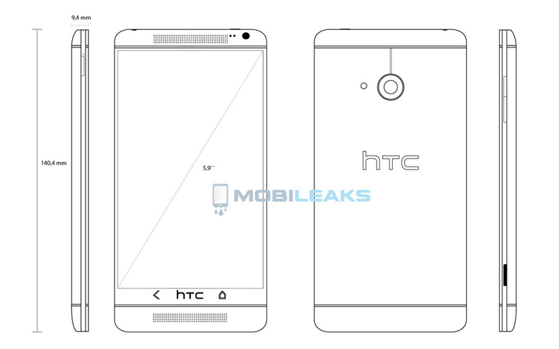 HTC One Max upcoming android smartphone