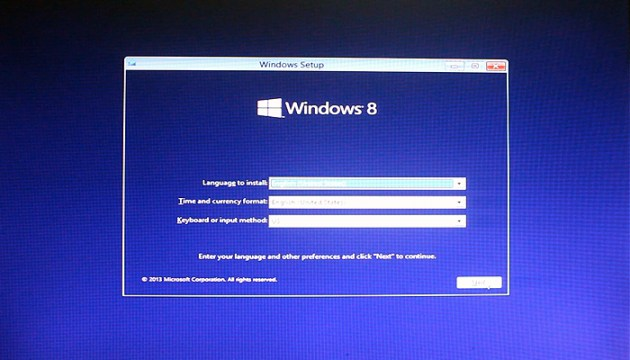 how to install windows 8.1 select language How to Install Windows 8.1   Instructions with Screenshots