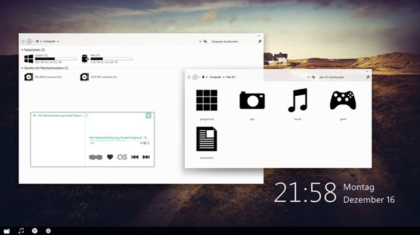 minimal white theme windows 7 20 Best Windows 7 Themes Collection for your Desktop   February 2014