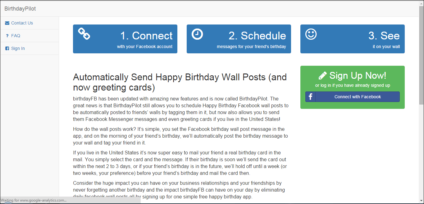 Step 1 First Of All Visit The Website BirthdayFB