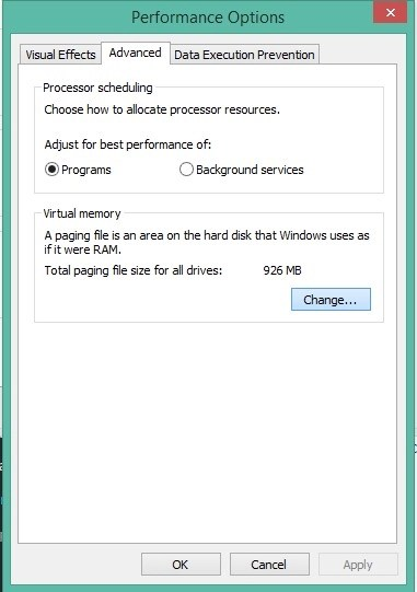 Incease RAM in Windows