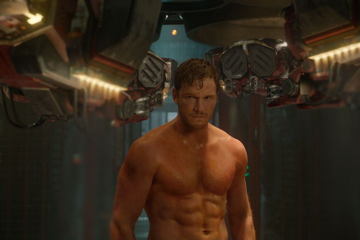 Chris Pratt is appallingly hot in Guardians of the Galaxy.