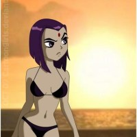 Raven not naked, then the nice skimpy bikini, and with a much more pleasant skin tone, (I always wondered why they chose to make a gray). Brings up the question what do guys wear to the beach?