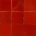 Zelliges rouge vermillon
