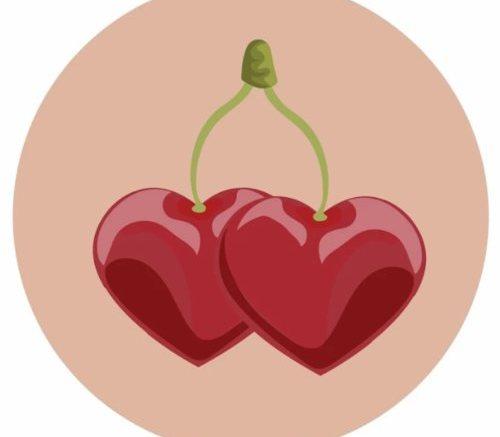 вишня сердце
