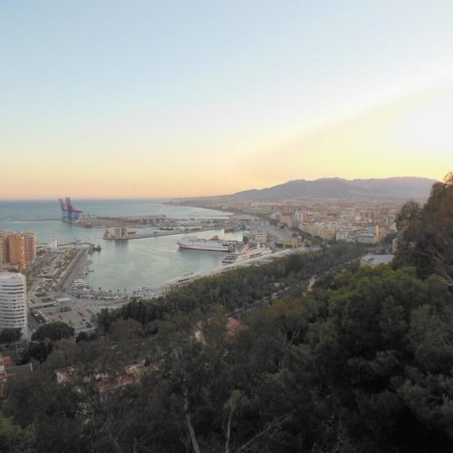 Parador Gibralfaro - Aussicht auf Stadt und Hafen