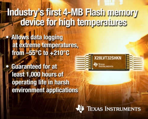 First Industry's 4-MB Flash Memory Device for Harsh Environments Unveiled by TI