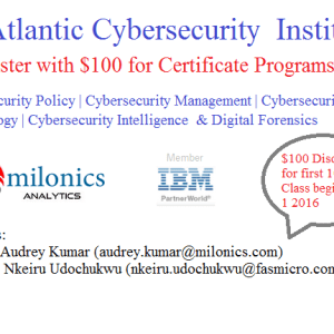Pre-register with $100 for Cybersecurity & Digital Forensics Online Training
