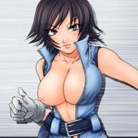 "Looks like Asuka Kazama from ""Tekken"" has too Huge Titties for that costume..."