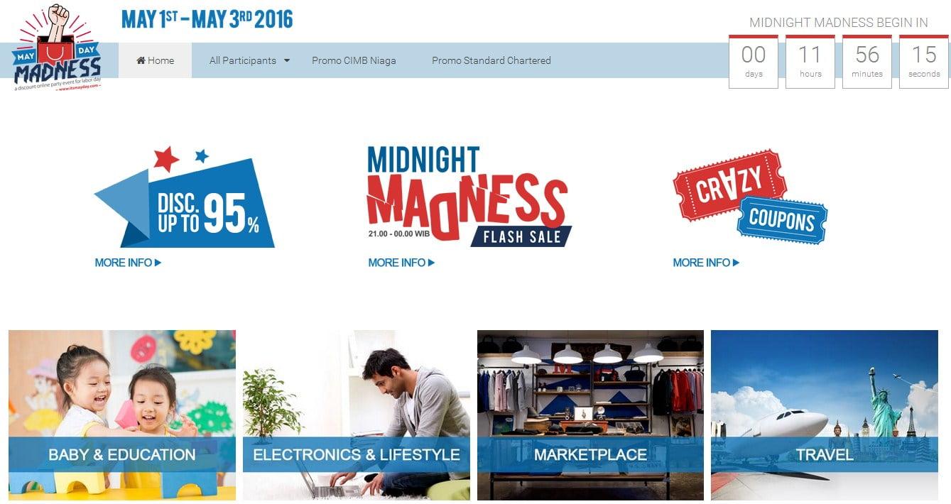 Sekitar 50-an E-Commerce di Indonesia Adakan Diskon di MayDay Madness 2016