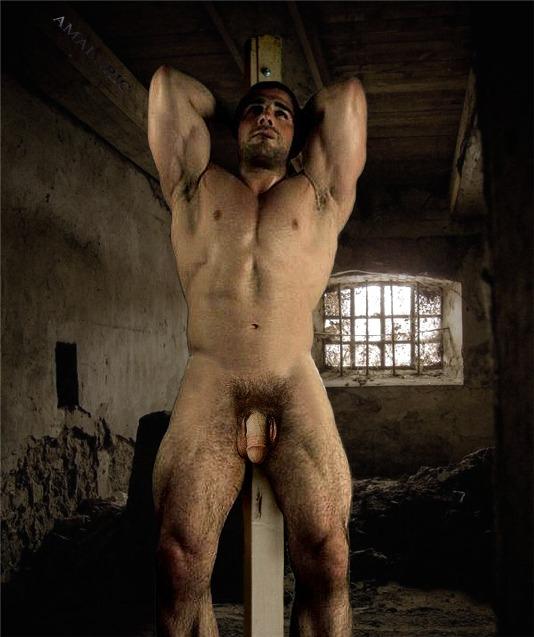 naked slave rope spread eagle