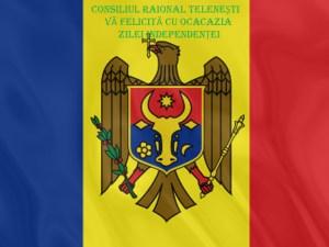 MESAJUL DE FELICITARE AL PREȘEDINTELUI RAIONULUI CU PRILEJUL ZILEI INDEPENDENȚEI REPUBLICII MOLDOVA