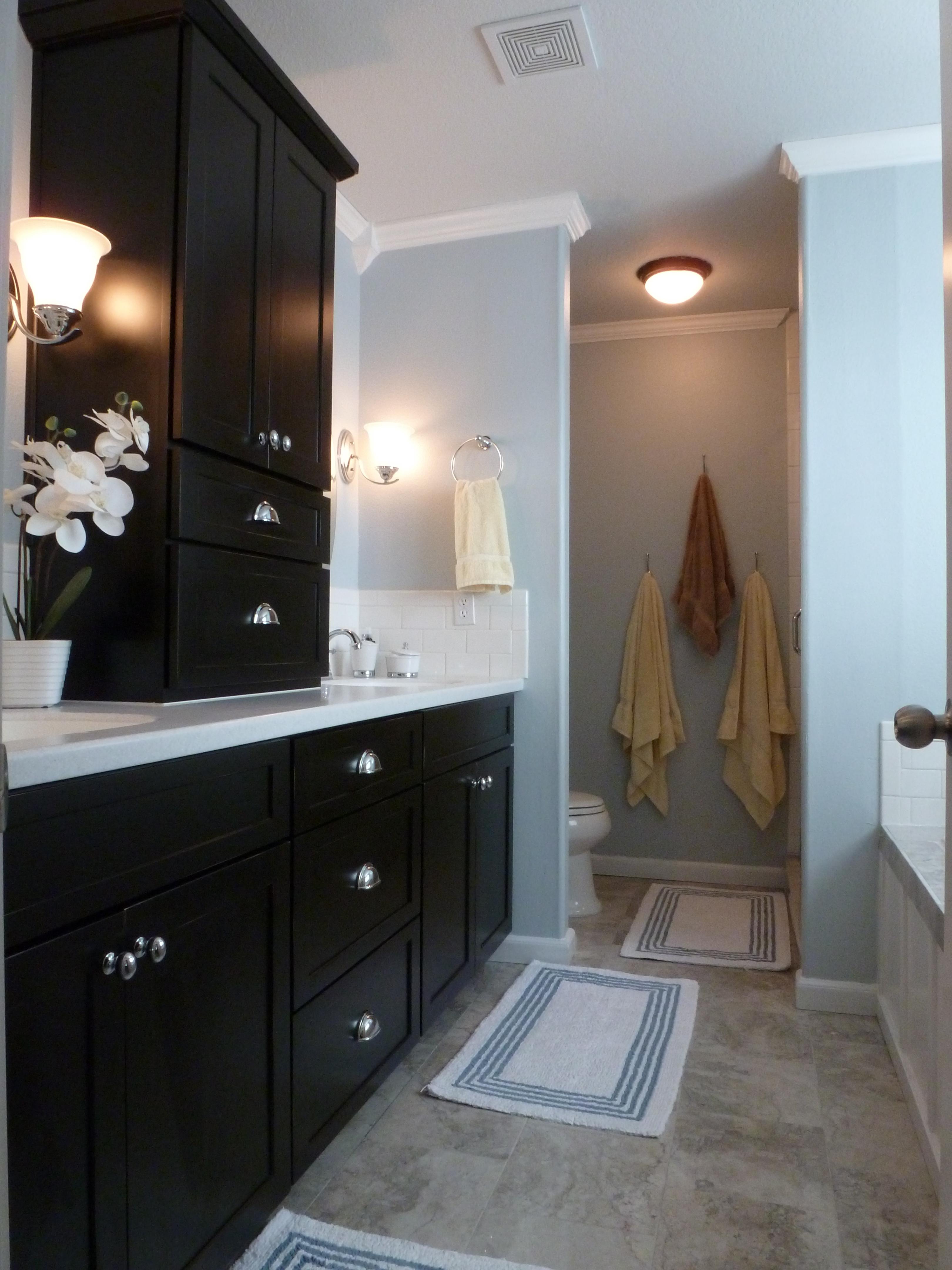 Delighful Bathroom Remodel Blue Tub M Throughout Design Inspiration