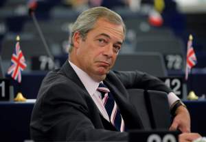 Nigel Farage, United Kingdom Independence Party (UKIP) member and MEP waits for the start of a debate on the last European Summit at the European Parliament in Strasbourg, France, October 26, 2016.   REUTERS/Vincent Kessler