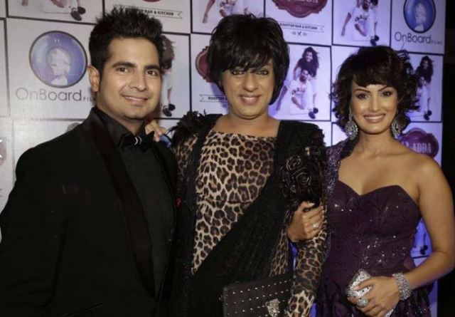 Image Courtesy: Kinky Little Boots Karan Mehra with Designer Rohit Verma and Wife Nisha Rawal