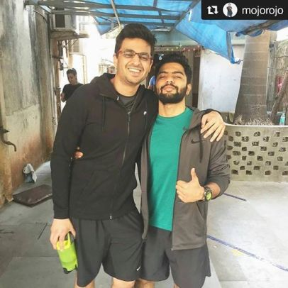 Kunal Rajput with Rohan Joshi from AIB
