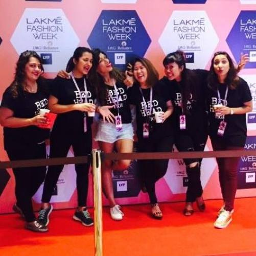 Nikisha Bhatia with her girl gang at Lakme Fashion Week