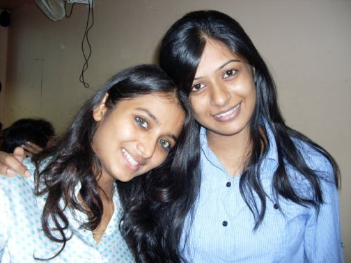 Nikisha Bhatia with her college friend