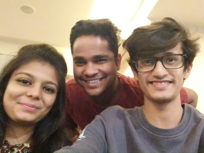 Choreographer Kartik Mohan With Tell Me Nothing's Founder Nikhil Malankar and Director Shweta Shah