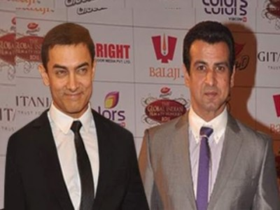 Actor Ronit Roy With Aamir Khan